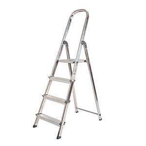 Escalera Rolser Unica con 4 Peldaños Anchos - 151 cm