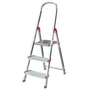 Escalera Rolser Norma 220 con 3 Peldaños Anchos - 128 cm