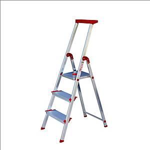 Escadote Rolser Brico 220 com 3 degraus largos - 130 cm