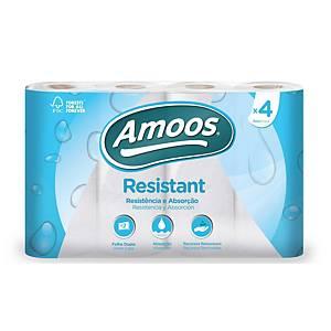 Pack de 4 rollos de papel de cocina Amoos