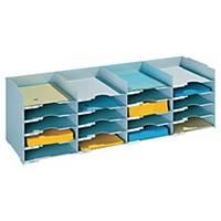 Paperflow Stackable Horizontal Organiser Grey