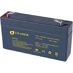 Batteri Celltech CT1,3-6, bly, 6V, 1,3 Ah, T1