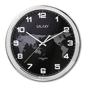 GALAXY CM6054 CLOCK 31.5CM BLK