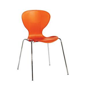 Sienna Dining Chair Orange - Pack Of 4 - Del & Ins