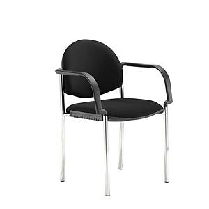 Coda Multi-Purpose Stacking Chair With Arms Black - Del & Ins