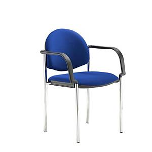 CODA M/PURP STACKING CHAIR W/ARM BLU D&I