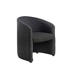 Reception Tub Chair Charcoal - Del & Ins