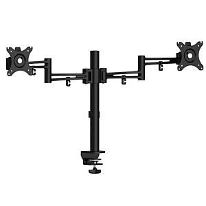 Luna Double Flat-Screen Monitor Arm Black - Del & Ins