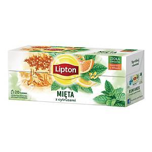 Herbatka LIPTON Mięta z cytrusami, 20 torebek