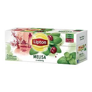 Herbatka LIPTON Melisa z wiśnią, 20 torebek