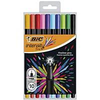 Bic Intensity Felt Pens Fine Asst - Pack Of 10