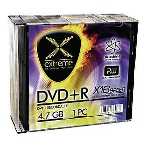 Płyta DVD+R EXTREME 4,7GB 16x, slim, opakowanie 10 sztuk