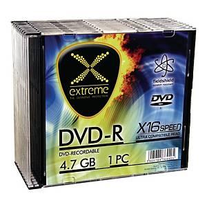 Płyta DVD-R EXTREME 1167 4,7GB 16x, slim, opakowanie 10 sztuk