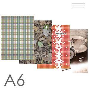 Záznamová kniha A6, linkovaná, 96 listů