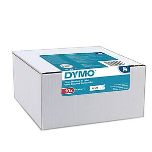 Ruban adhésif pour étiquettes Dymo D1, 12 mm, noir sur blanc, les 10 rouleaux