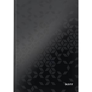 Notizbuch Leitz 4626 Wow, A4, kariert, glänzend laminiert, 80 Blatt, schwarz