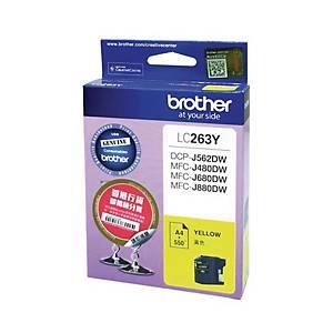 Brother LC263Y Inkjet Cartridge - Yellow