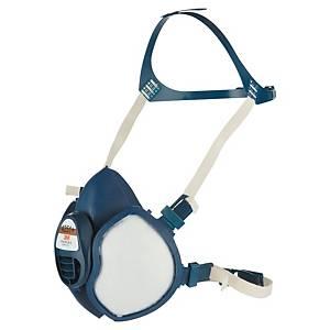 Demi-masque 3M Série 4000 4251+, thermoplastique, bleu/blanc