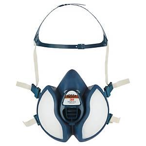 Demi-masque 3M Série 4000 4255+, thermoplastique, bleu/blanc