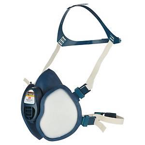 Demi-masque 3M Série 4000 4277+, thermoplastique, bleu/blanc