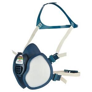 Demi-masque 3M Série 4000 4279+, thermoplastique, bleu/blanc
