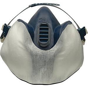 Schutzvlies 3M 400+, für Atemschutzmasken der Serie 4000/4000+, weiß, 10 Stück