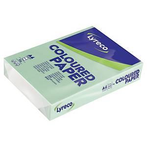 Färgat papper Lyreco, A4, 80g, grönt, förp. med 500 ark
