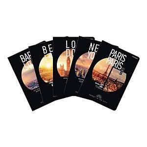 Brulion TOP2000 Sunset w miękkiej okładce, A4, kratka, 96 kartek, miks kolorów