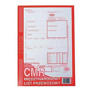Druk MICHALCZYK&PROKOP CMR  Międzynarodowy list przewozowy  A4 (1+3K), 80 kartek