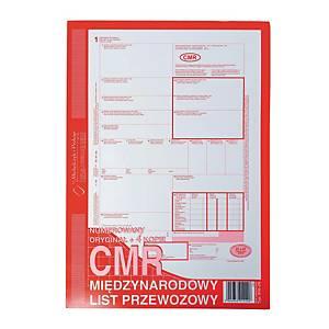 Druk MICHALCZYK&PROKOP CMR  Międzynarodowy list przewozowy  A4 (1+4K), 80 kartek