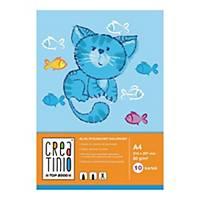 Blok rysunkowy A4, 10 kartek, kolorowy, 80g/m2*