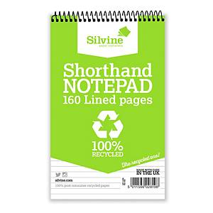 Silvine Recycled Notebook A4 Shorthand Twin-Wire