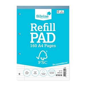Silvine FSC Refill Pad A4