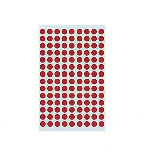 좋은라벨 견출지 3004 컬러분류용 Ø8 빨강 7매