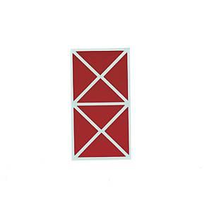 좋은라벨 견출지 3031 컬러 삼각 65X33MM 빨강 7매입