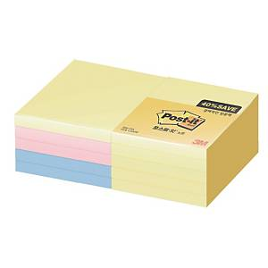 PK10 POST-IT SSN 654-10A 76X76 ASSTD