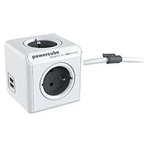 Multiprise multifonction Allocacoc PowerCube - 4 prises + 2 USB