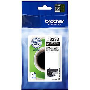 Tintenpatrone BROTHER LC-3233BK, 3000 Seiten, schwarz