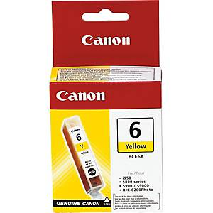 Tintenpatrone CANON BCI-6Y, S800,  280 Seiten, yellow