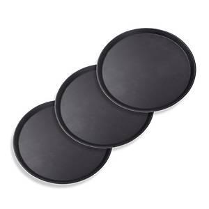 /Vassoio rotondo nero - conf. 4 x 5
