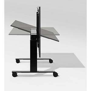 Bürotisch Follow, 160x180 cm, verstellbar, schwarz