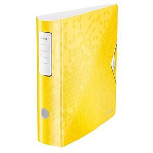 Pákový zakladač Leitz 180° Active WOW, šírka chrbta 8,2 cm, farba žltá