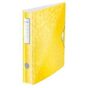 Pákový zakladač Leitz 180° Active WOW, šírka chrbta 5 cm, farba žltá