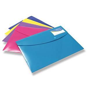 Obal na dokumenty s drukem Rapesco A4+, s pouzdrem na vizitku, mix barev