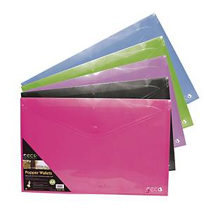 Obal na dokumenty s drukom Stewart, A4, 180 μm, mix farieb, balenie 5 kusov