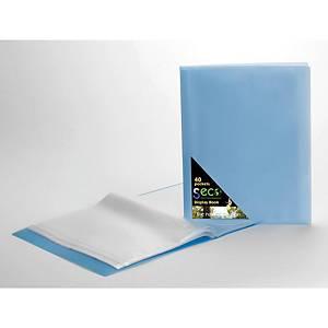 Prezentačná kniha s 40 obalmi Seco, modrá