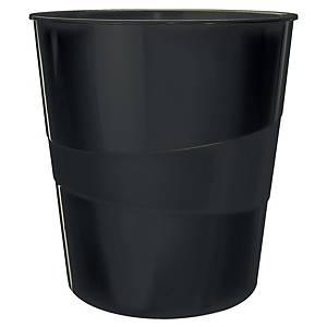 Leitz WOW Papierkorb 15 l, schwarz