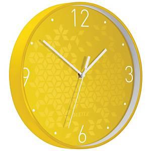 Nástěnné hodiny Leitz WOW, žluté
