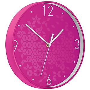 Nástěnné hodiny Leitz WOW, růžové