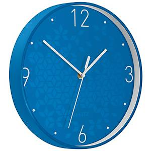 Nástěnné hodiny Leitz WOW, modré